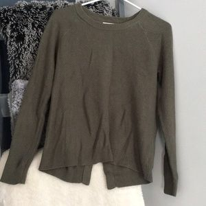 Madwell Province Cross Back Olive Green Sweater